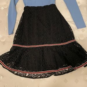 Sandro lace skirt